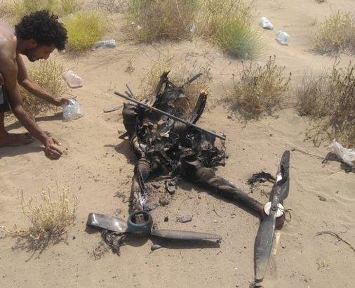 فيديو | إسقاط وتدمير مسيَّرة حوثية محملة بقذائف استهدفت مدنيين جنوب الحديدة