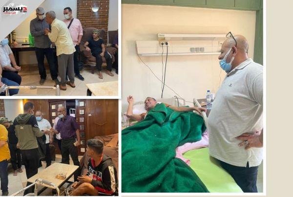 بتكليف من العميد طارق.. وفد من المقاومة الوطنية يعايد الجرحى ذوي الهمم العالية في مشافي القاهرة